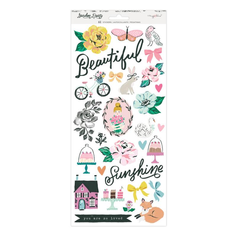 American Crafts - Maggie Holmes - Garden Party 6x12 Sticker Sheet (61 Piece)