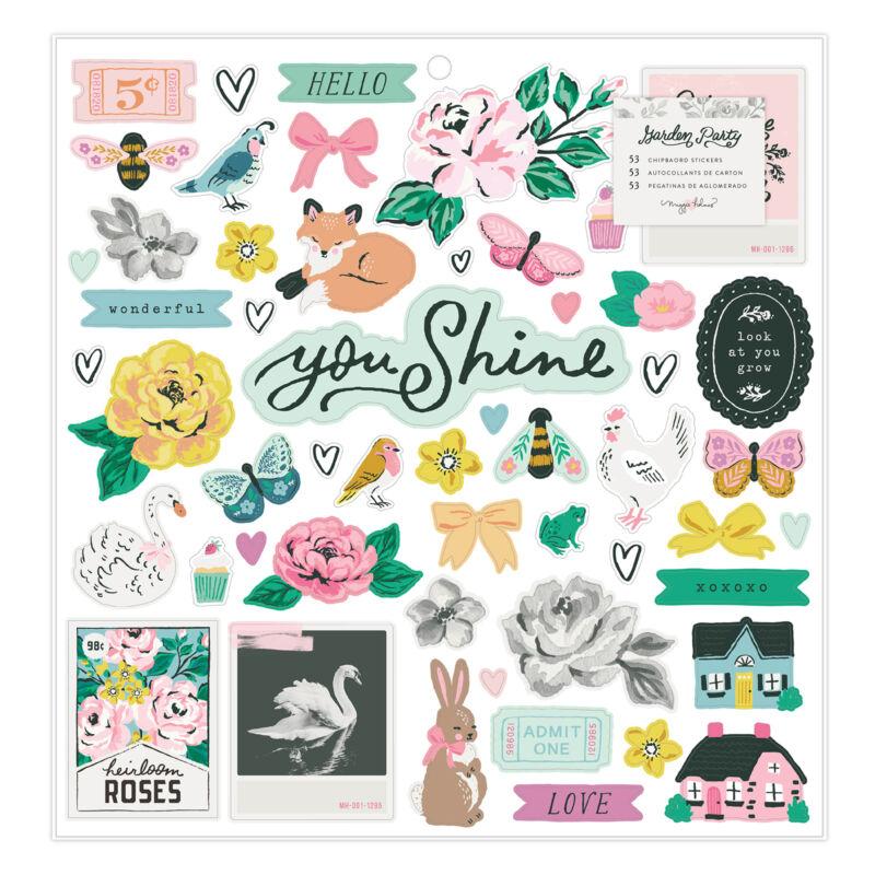 American Crafts - Maggie Holmes - Garden Party 12x12 Chipboard Sticker (50 Piece)