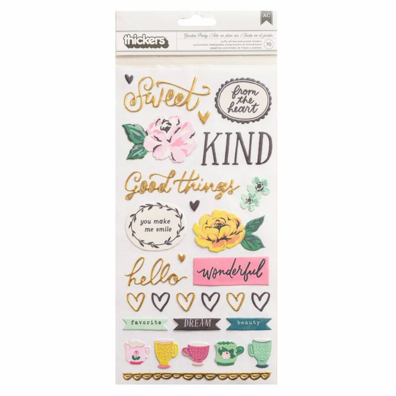American Crafts - Maggie Holmes - Garden Party Puffy Thickers - Lovely (70 Piece)