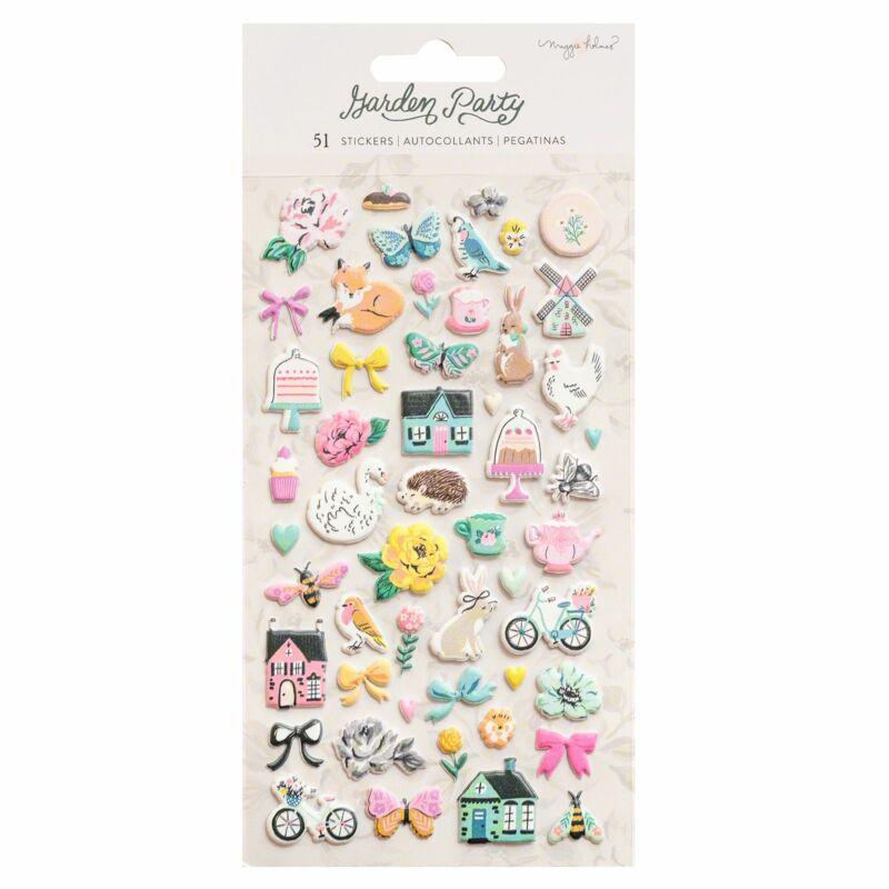 American Crafts - Maggie Holmes - Garden Party Puffy Sticker (51 Piece)