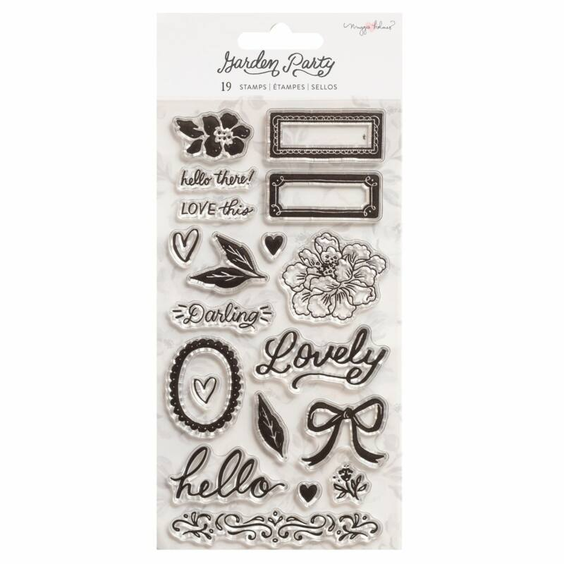 American Crafts - Maggie Holmes - Garden Party Clear Stamps (19 Piece)