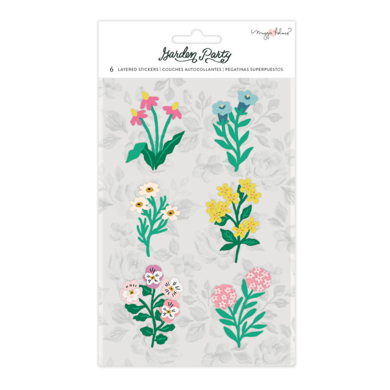 American Crafts - Maggie Holmes - Garden Party Layered Sticker (6 Piece)