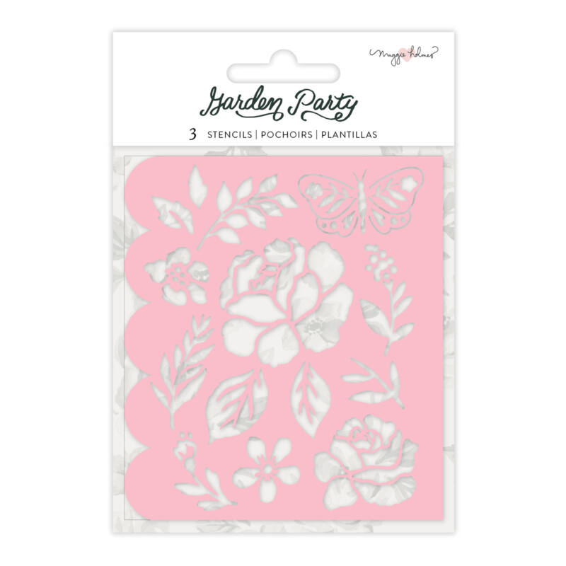 American Crafts - Maggie Holmes - Garden Party Flower Builder Stencils (3 Piece)
