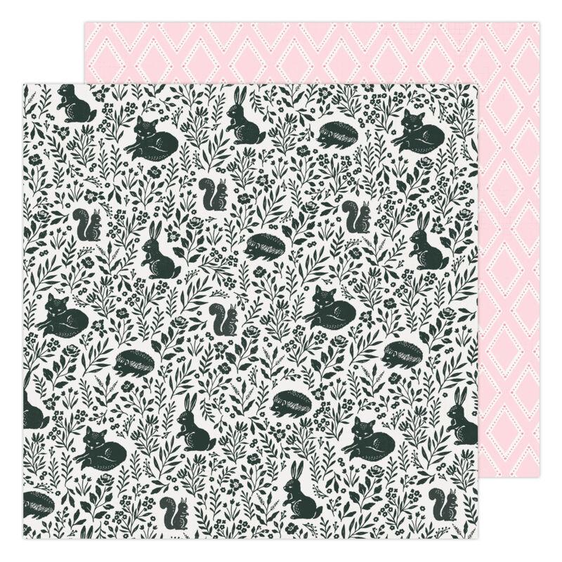 American Crafts - Maggie Holmes - Garden Party 12x12 Paper - Garden Friends