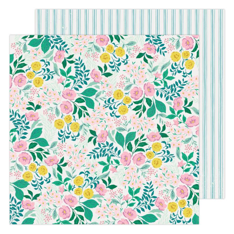 American Crafts - Maggie Holmes - Garden Party 12x12 Paper - Wild Flower