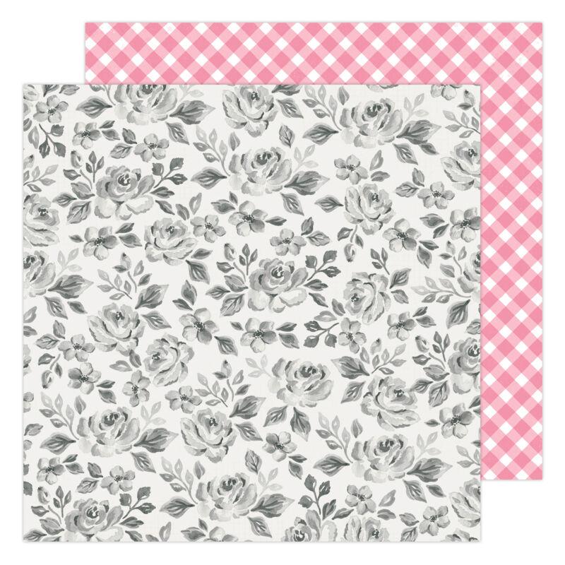 American Crafts - Maggie Holmes - Garden Party 12x12 Paper - Rose Bush