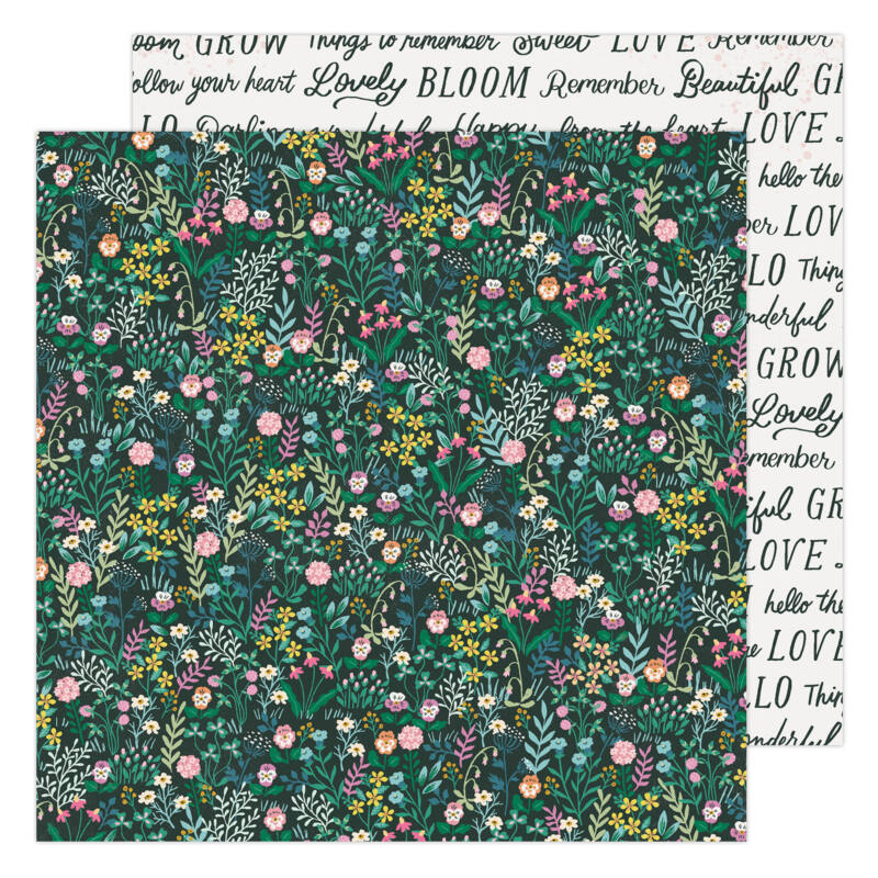 American Crafts - Maggie Holmes - Garden Party 12x12 Paper - Happy Growing