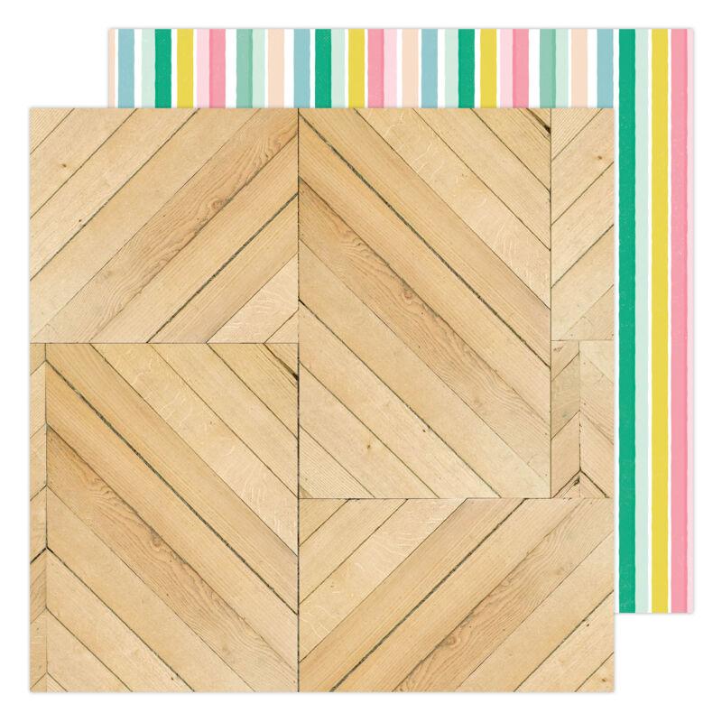 American Crafts - Maggie Holmes - Garden Party 12x12 Paper - Trellis