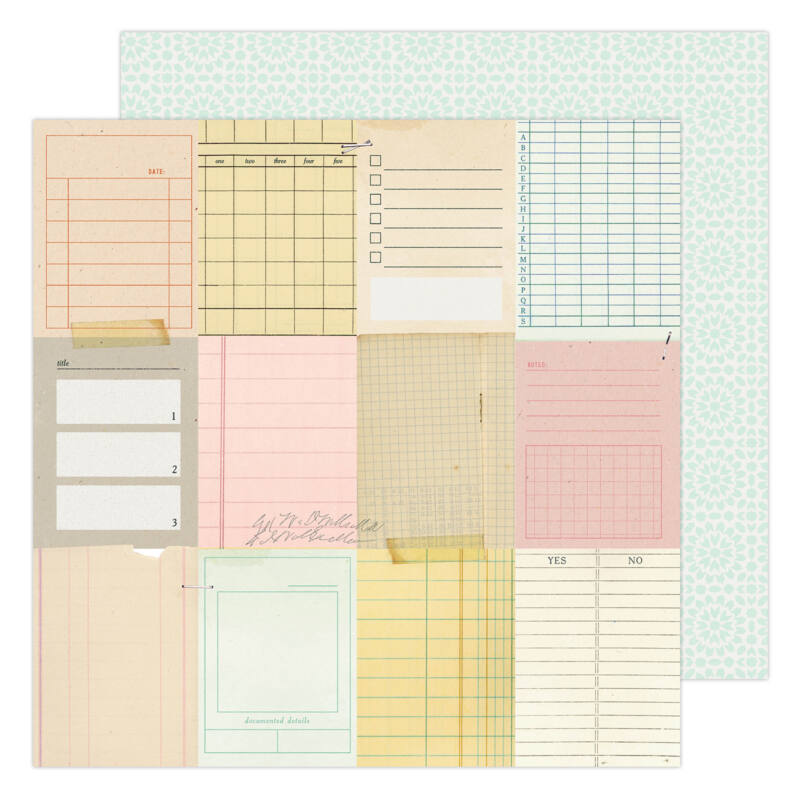 American Crafts - Maggie Holmes - Garden Party 12x12 Paper - Taking Notes