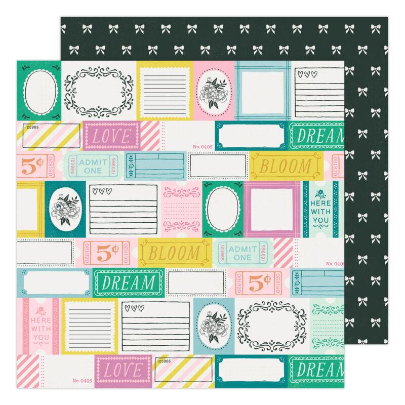 American Crafts - Maggie Holmes - Garden Party 12x12 Paper - Garden Stroll