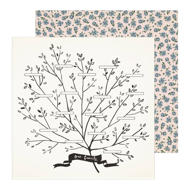 Crate Paper - Maggie Holmes - Heritage 12x12 Patterned Paper - Family Tree