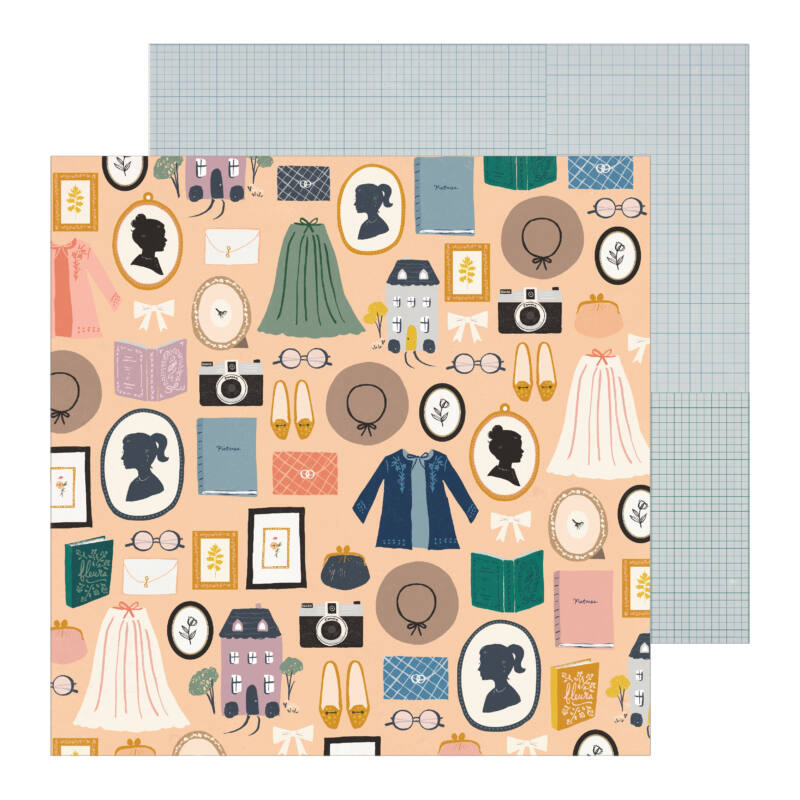 Crate Paper - Maggie Holmes - Heritage 12x12 Patterned Paper - Decades