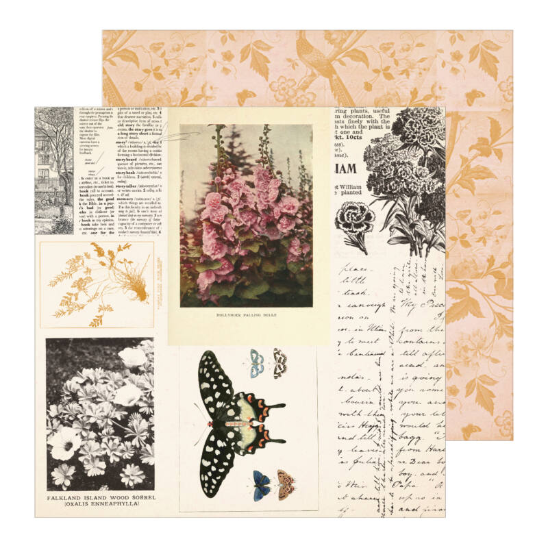 Crate Paper - Maggie Holmes - Heritage 12x12 Patterned Paper - Keepsake