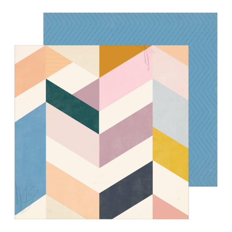 Crate Paper - Maggie Holmes - Heritage 12x12 Patterned Paper - Library