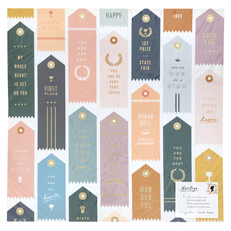 Crate Paper - Maggie Holmes - Heritage 12x12 Specialty Paper - Trophies
