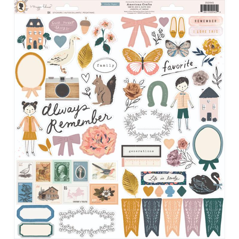 Crate Paper - Maggie Holmes - Heritage 6x12 Sticker (64 Piece)