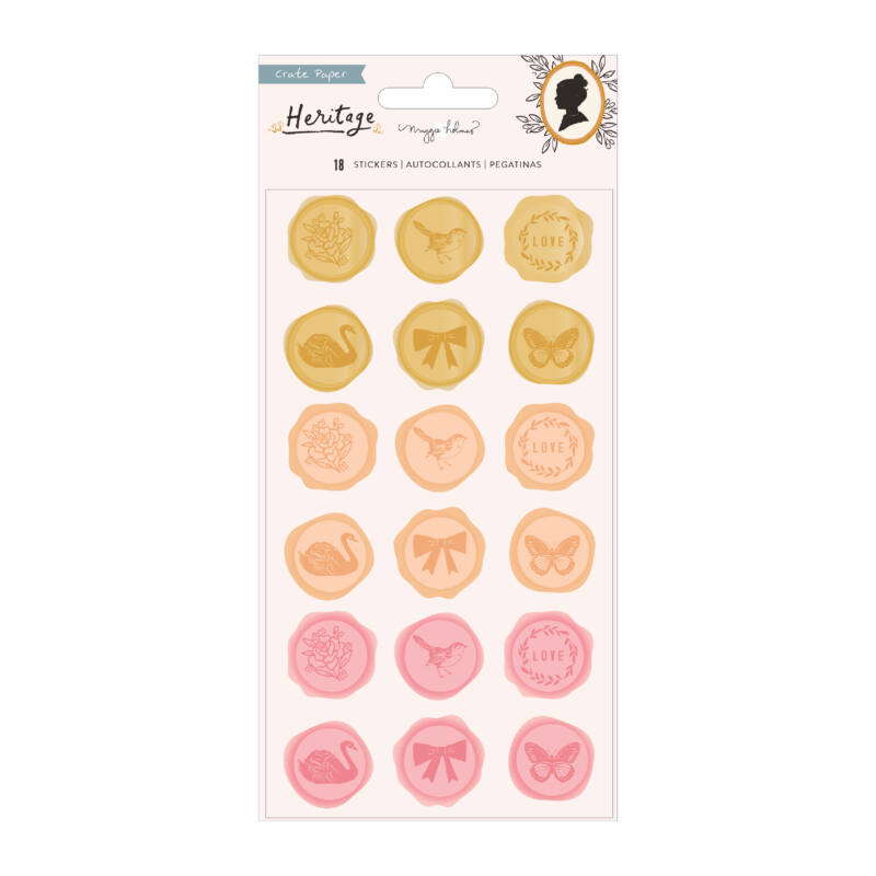 Crate Paper - Maggie Holmes - Heritage Puffy Sticker - Molded Plastic (18 Piece)