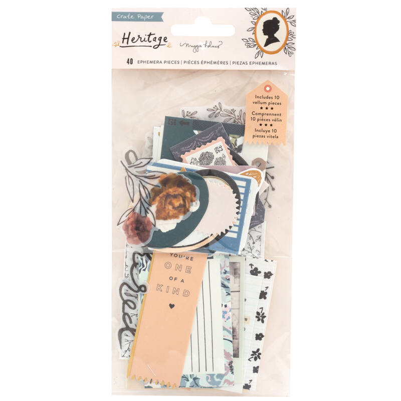 Crate Paper - Maggie Holmes - Heritage Ephemera (40 Piece)