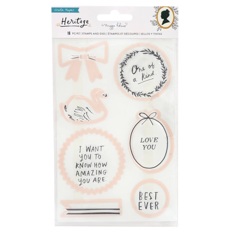 Crate Paper - Maggie Holmes - Heritage Acrylic Stamp and Die Set (16 Piece)