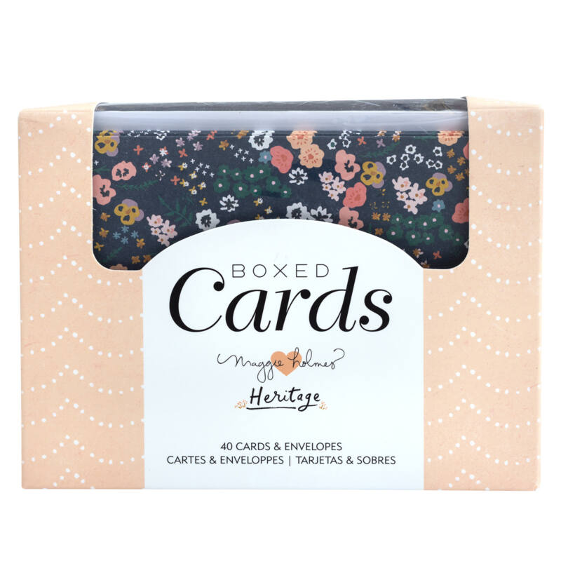 Crate Paper - Maggie Holmes - Heritage Boxed Cards Set (40 Cards and 40 Envelopes)