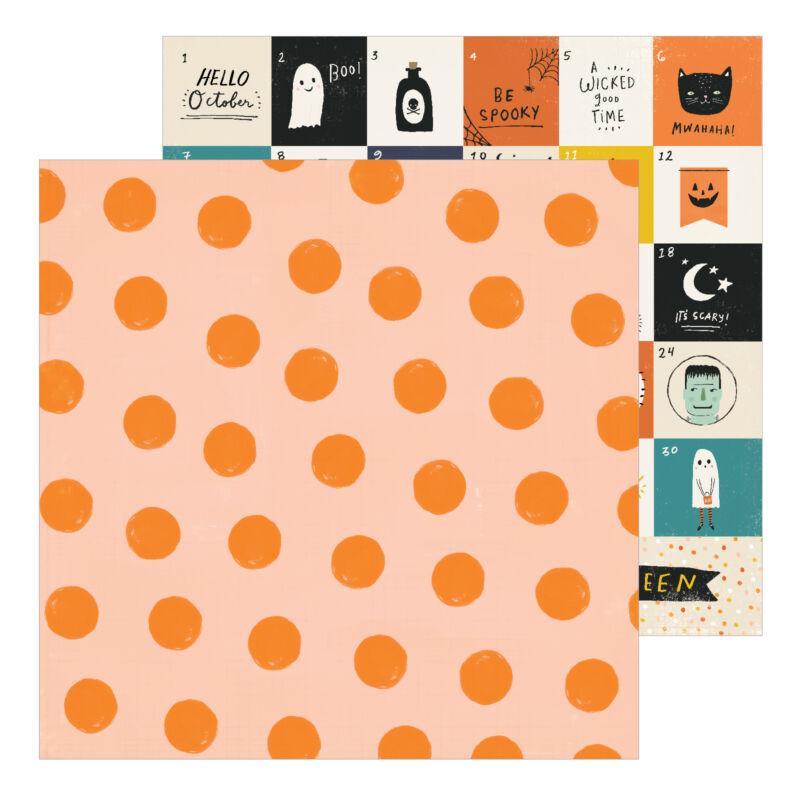 Crate Paper - Hey, Pumpkin 12x12 Patterned Paper - Pumpkin Spice