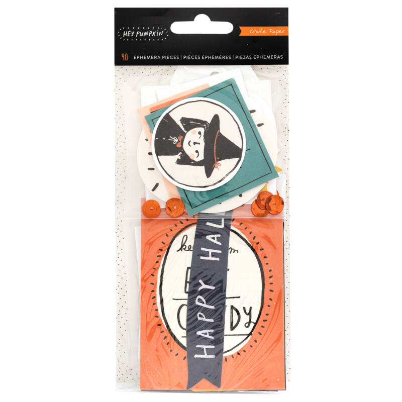 Crate Paper - Hey, Pumpkin Ephemera (40 Piece)