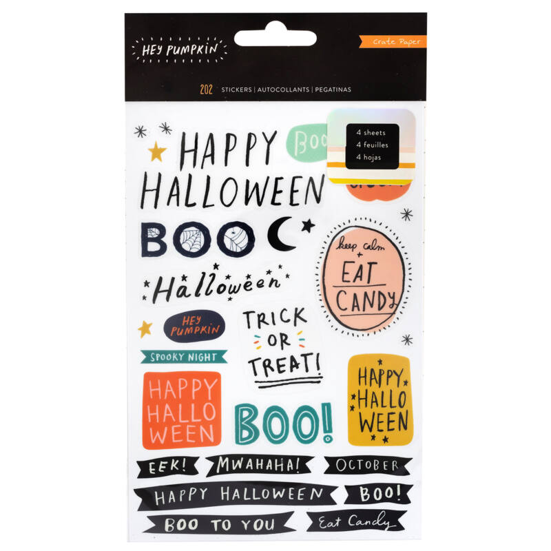 Crate Paper - Hey, Pumpkin Sticker Book (202 Piece)