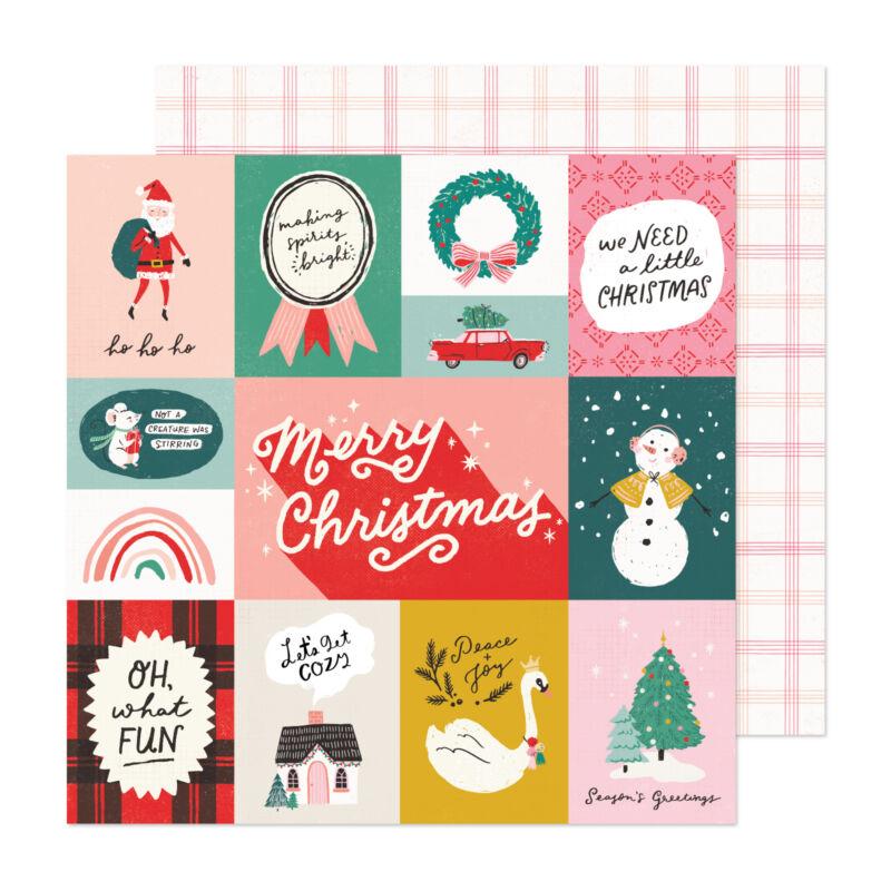 Crate Paper - Hey, Santa 12x12 Paper - Oh What Fun
