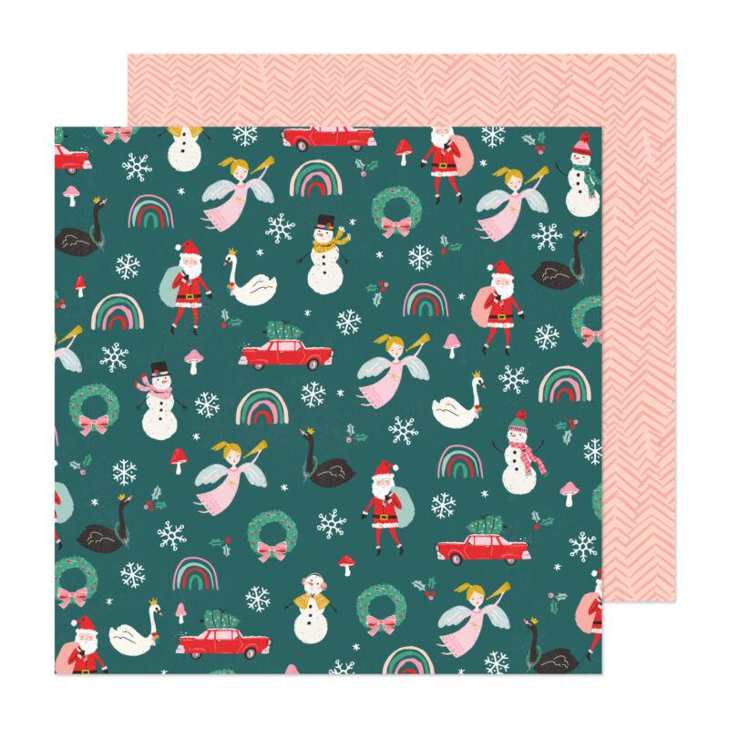 Crate Paper - Hey, Santa 12x12 Paper - Christmas Magic