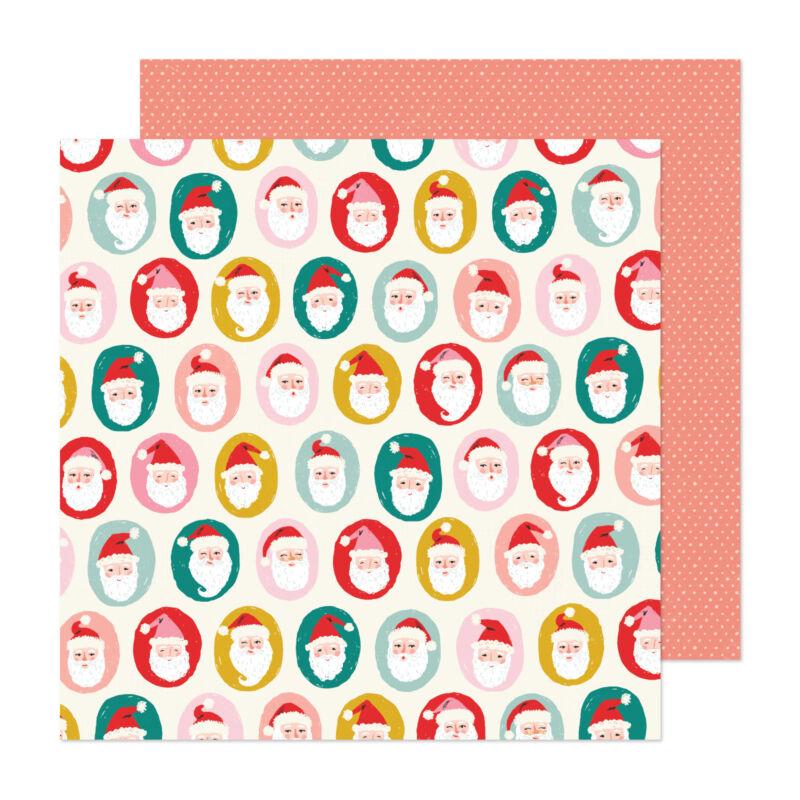 Crate Paper - Hey, Santa 12x12 papír - Ho Ho Ho