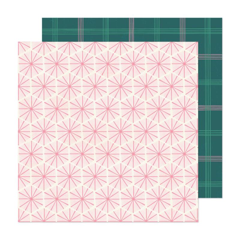 Crate Paper - Hey, Santa 12x12 Paper - Peppermint