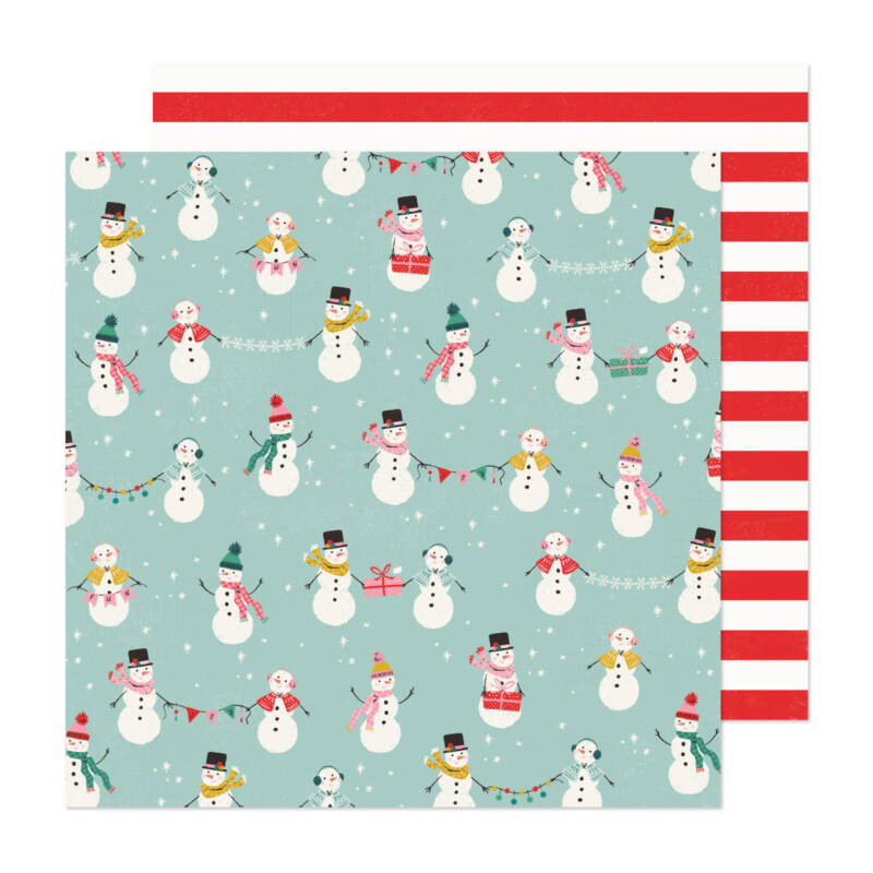 Crate Paper - Hey, Santa 12x12 Paper - North Pole