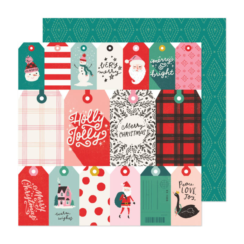 Crate Paper - Hey, Santa 12x12 Paper - Be Jolly