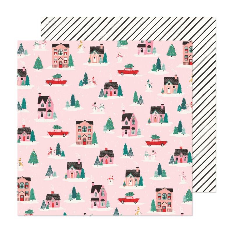Crate Paper - Hey, Santa 12x12 papír - City Sidewalks