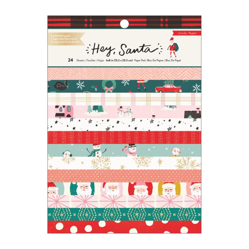 Crate Paper - Hey, Santa 6x8 papírtömb (24 lap)