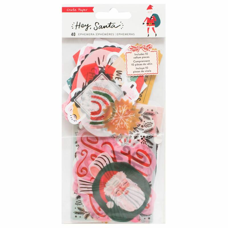 Crate Paper - Hey, Santa Ephemera (40 Piece)