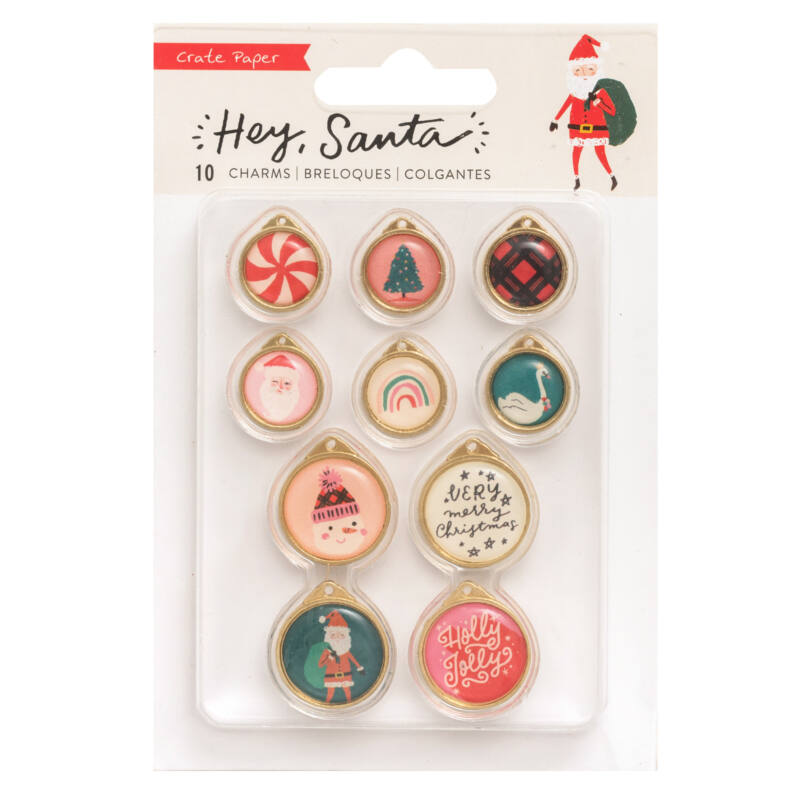 Crate Paper - Hey, Santa Charms (10 Piece)