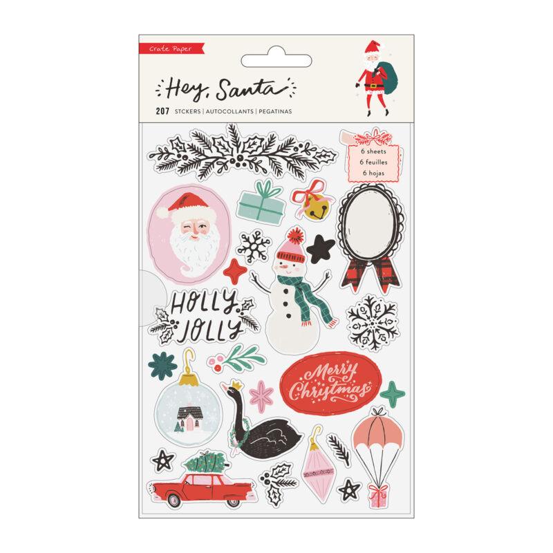 Crate Paper - Hey, Santa Sticker Book (207 Piece)