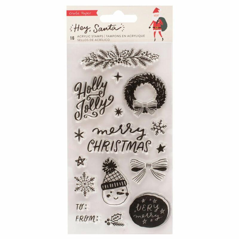 Crate papír - Hey, Santa bélyegző (16 db)