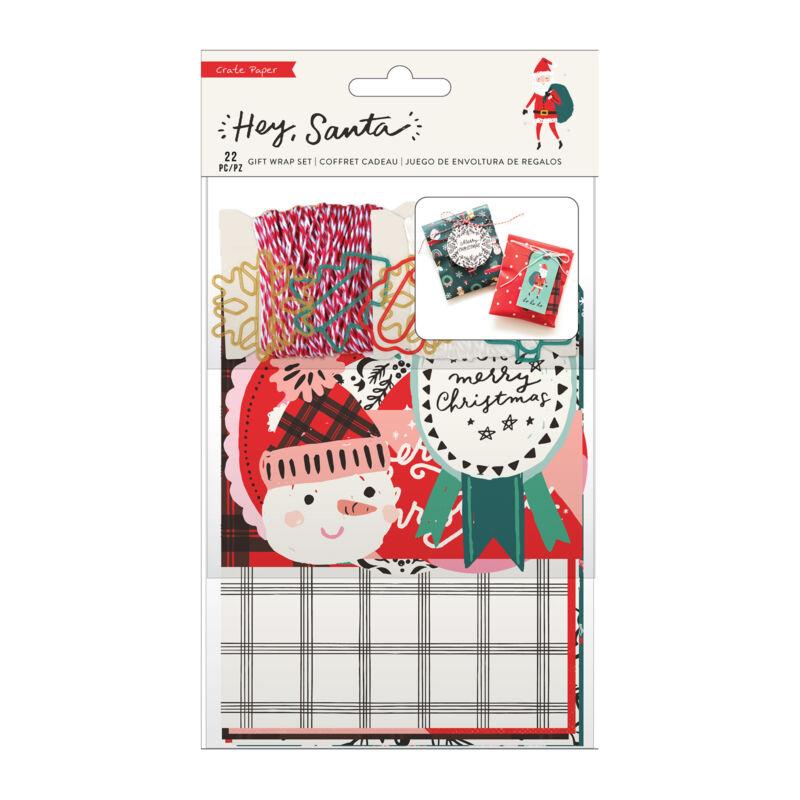 Crate Paper - Hey, Santa Gift Wrap Set (22 Piece)