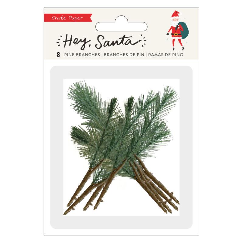 Crate papír - Hey, Santa mű fenyőágak (8 db)