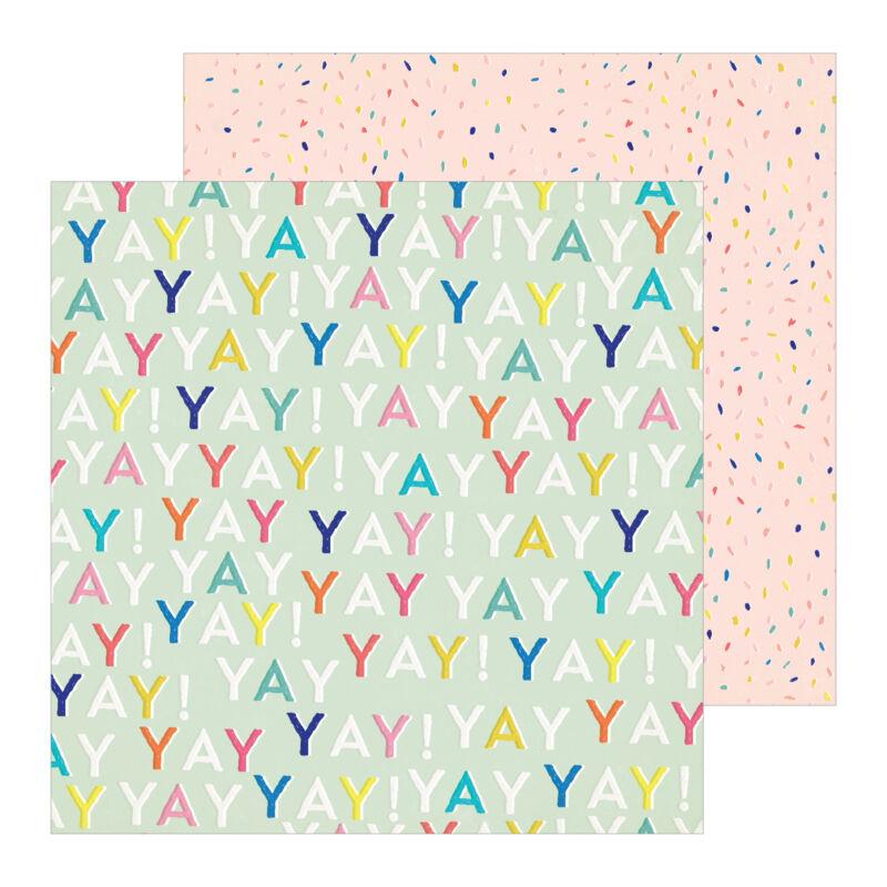 Crate Paper - Hooray 12x12 scrapbooking papir -  Yay