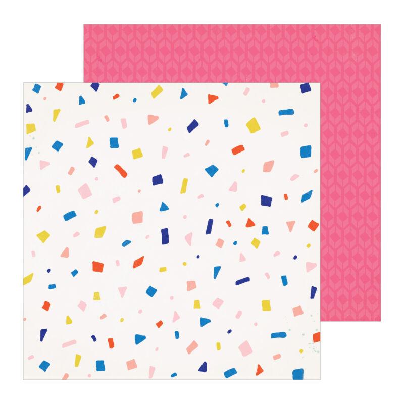 Crate Paper - Hooray 12x12 scrapbooking papir -  Confetti