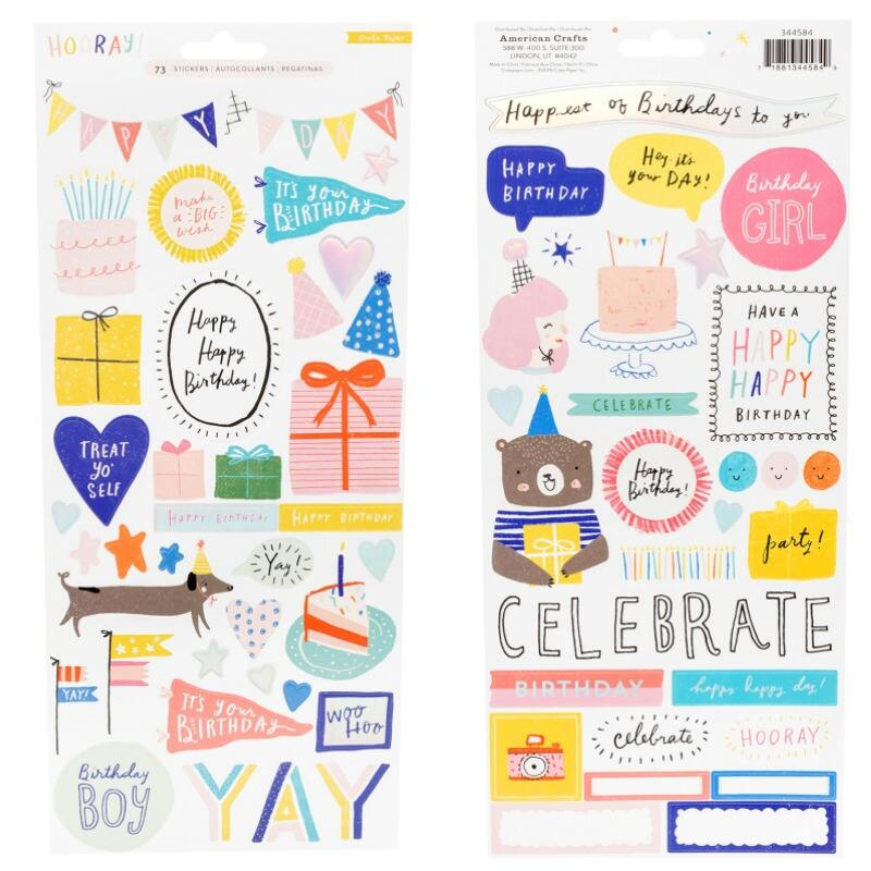 Crate Paper - Hooray 6x12 Stickers (73 Piece)