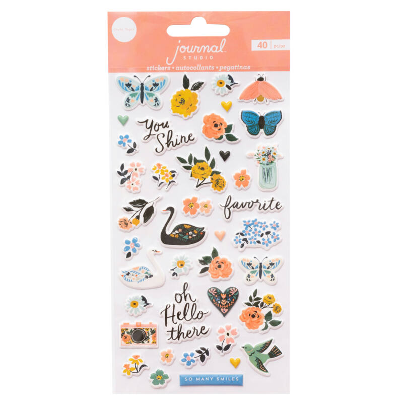 Crate Paper - Journal Studio Puffy Stickers (40 Piece)