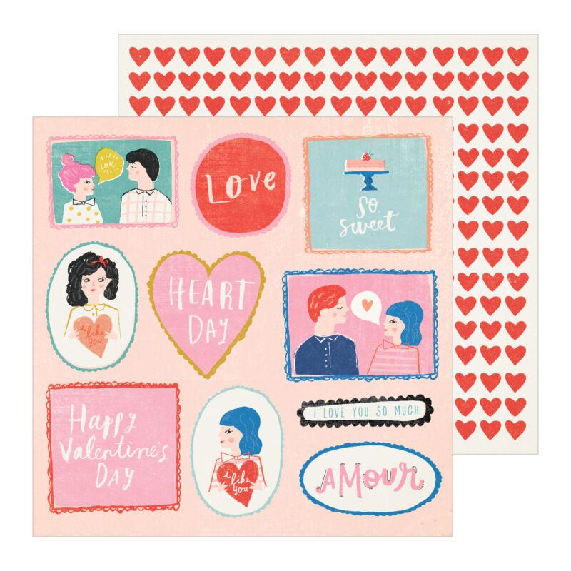 Crate Paper - La La Love 12x12 Patterned Paper - My Guy