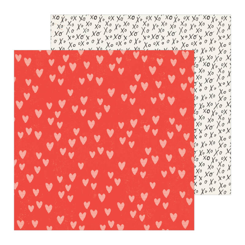 Crate Paper - La La Love 12x12 Patterned Paper - Heart You