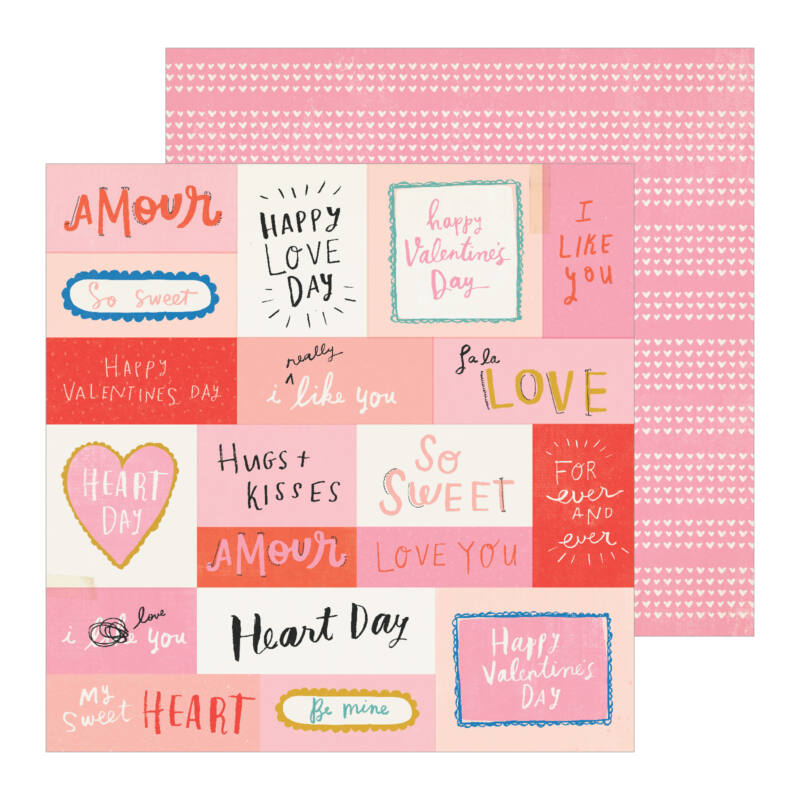 Crate Paper - La La Love 12x12 Patterned Paper - Like You
