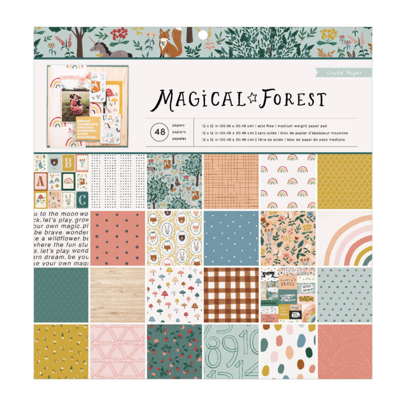 Crate Paper - Magical Forest 12x12 Paper Pad (48 Sheets)