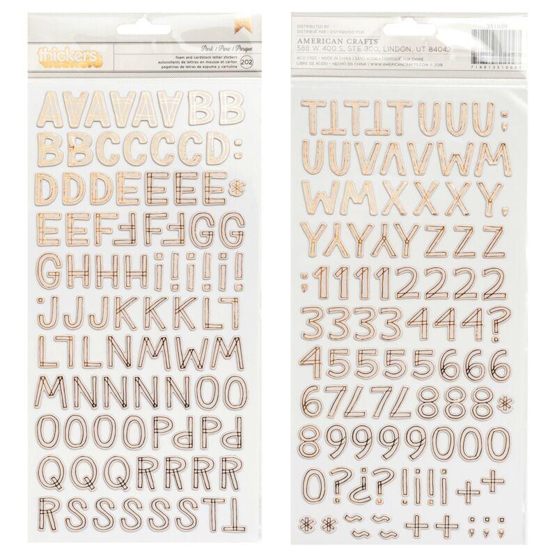 Crate papír - Magical Forest dekorgumi betűmatrica - Park (202 db)
